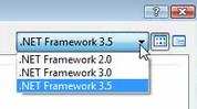 نحوه انتخاب فریمورک در زمان ایجاد یک وب سایت جدید در ویژوال استودیو 2008